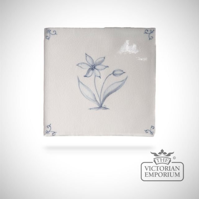 Hand painted tile 13x13cm - Wildflower 3