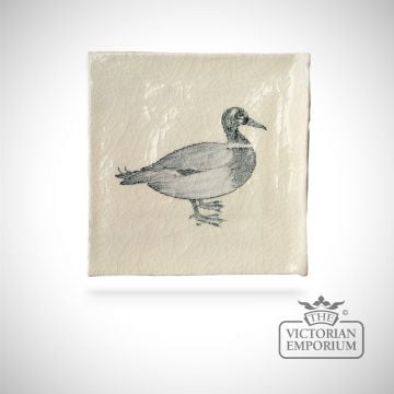 Hand painted tile 13x13cm - farm bird 1