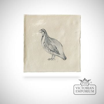 Hand painted tile 13x13cm - farm bird 2