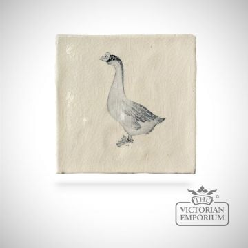 Hand painted tile 13x13cm - farm bird 3