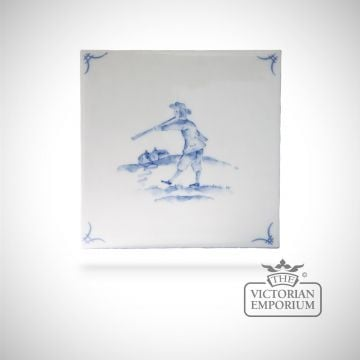 Hand painted tile 13x13cm - Delft Figures 1