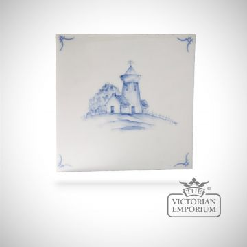 Hand painted tile 13x13cm - Delft Ships 3