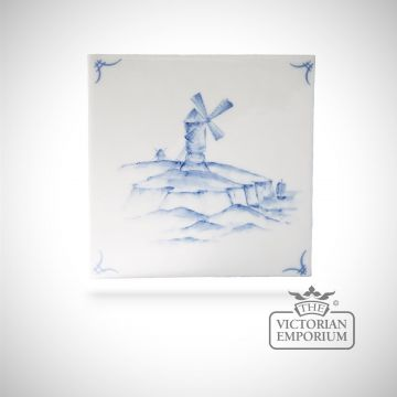 Hand painted tile 13x13cm - Delft Ships 5