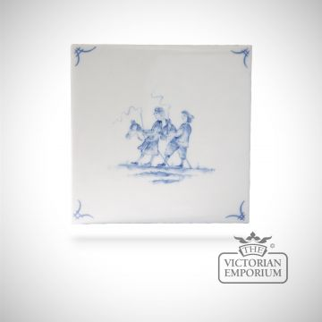 Hand painted tile 13x13cm - Delft Figures 6