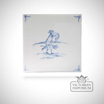 Hand painted tile 13x13cm - Delft Figures 2