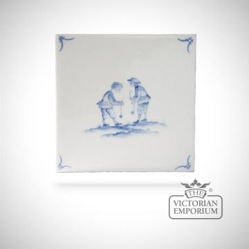 Hand painted tile 13x13cm - Delft Figures 4