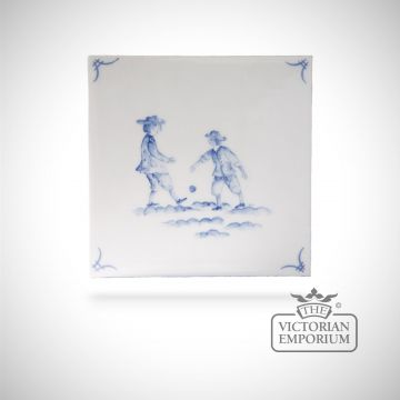 Hand painted tile 13x13cm - Delft Figures 5
