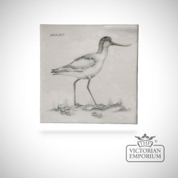 Hand painted tile 13x13cm - Avocet