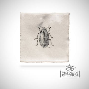 Hand painted tile 6.5x6.5cm - beetle