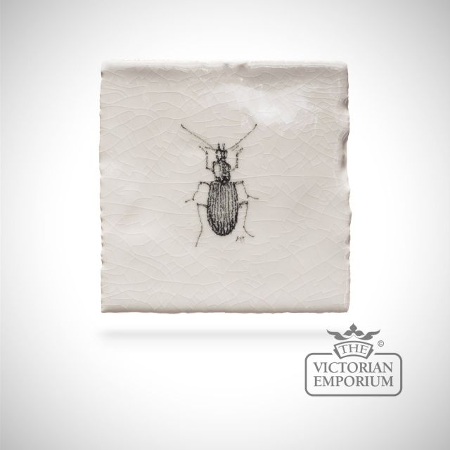 Hand painted tile 6.5x6.5cm - bug
