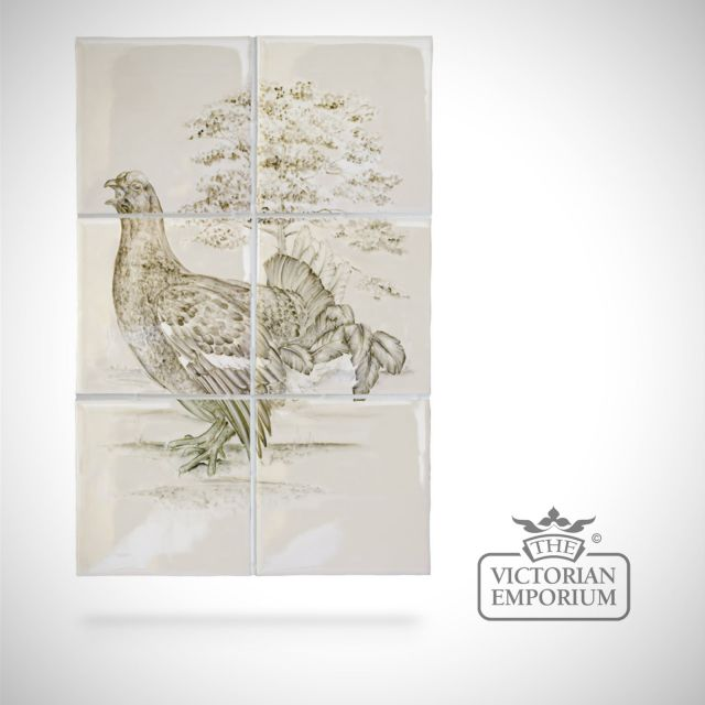 Hand painted 6 tile panel - British Birds 3