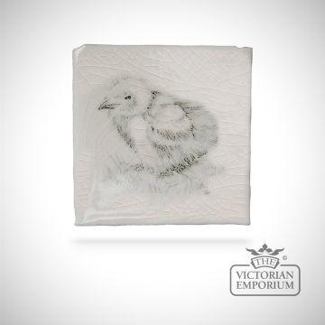 Hand painted tile 6.3x6.3cm - coastal and moorland bird 3