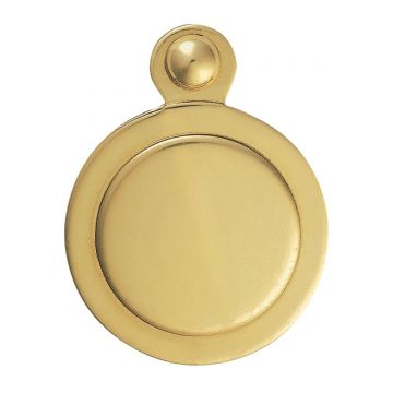 Victorian escutcheon - covered, plain