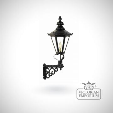 Medium hexagonal meridien wall lantern with cast bracket