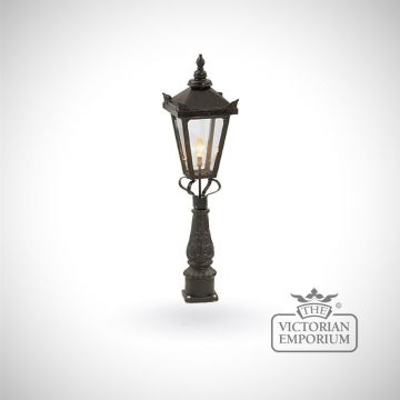 Medium square tamar lantern with Pedestal base