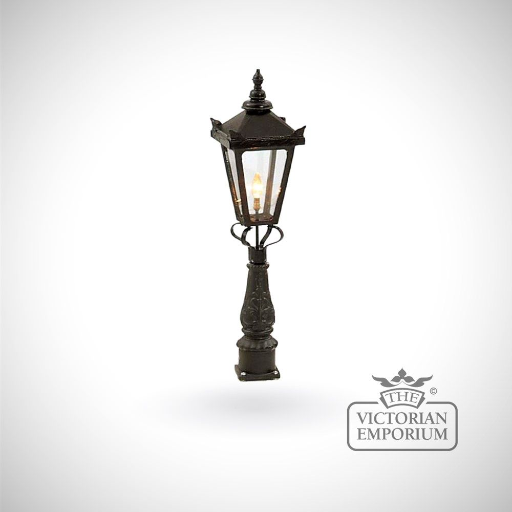 Parish Mini Pedestal Lantern: Small Hexagonal Trent Lantern With Pedestal Base
