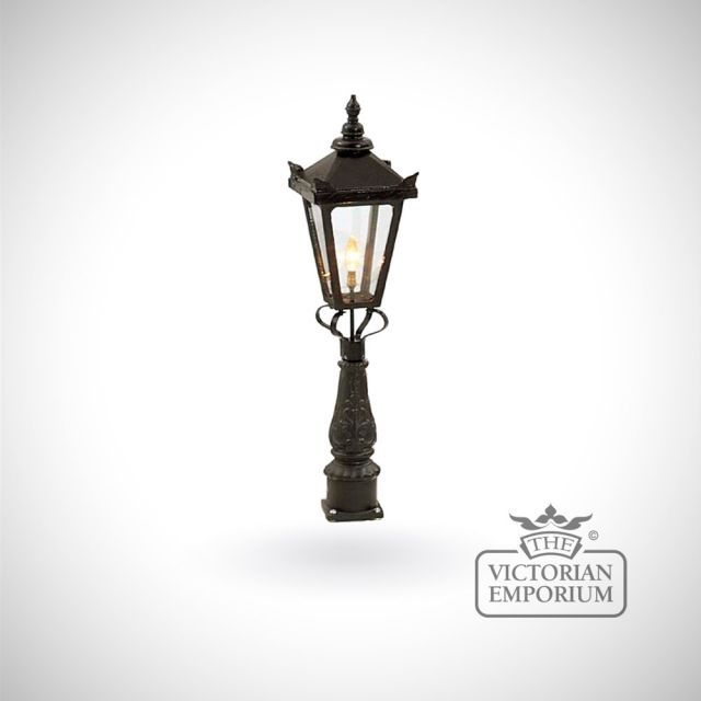 Small hexagonal trent lantern with Pedestal base