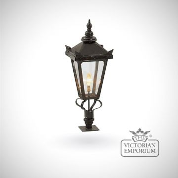 Medium square tamar lantern with Wall top base