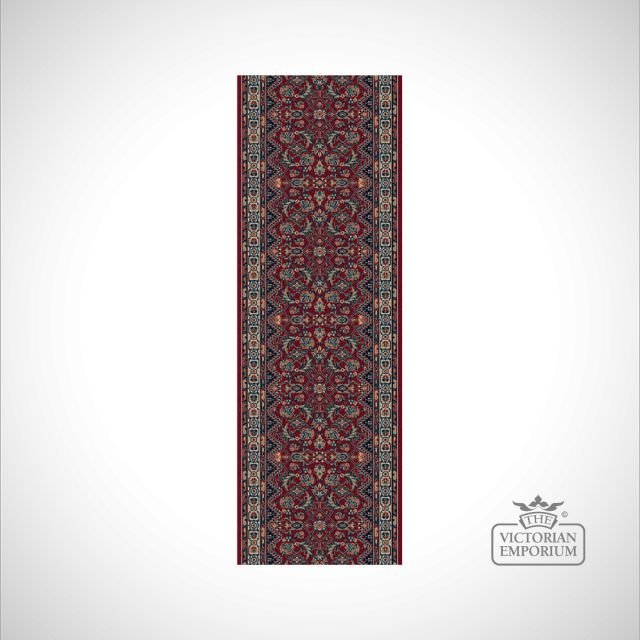 Victorian Stair Runner Carpet - style KO1175 - Red
