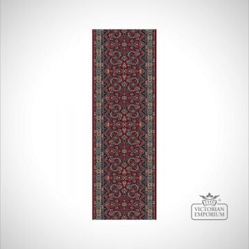 Victorian Stair Carpet Runner - style KO1175 - Red