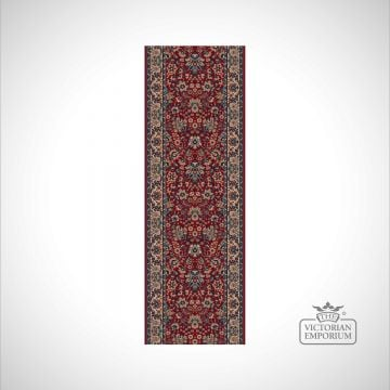 Victorian Stair Runner Carpet - style KO1164 in Red, Beige/Brown or Beige Red