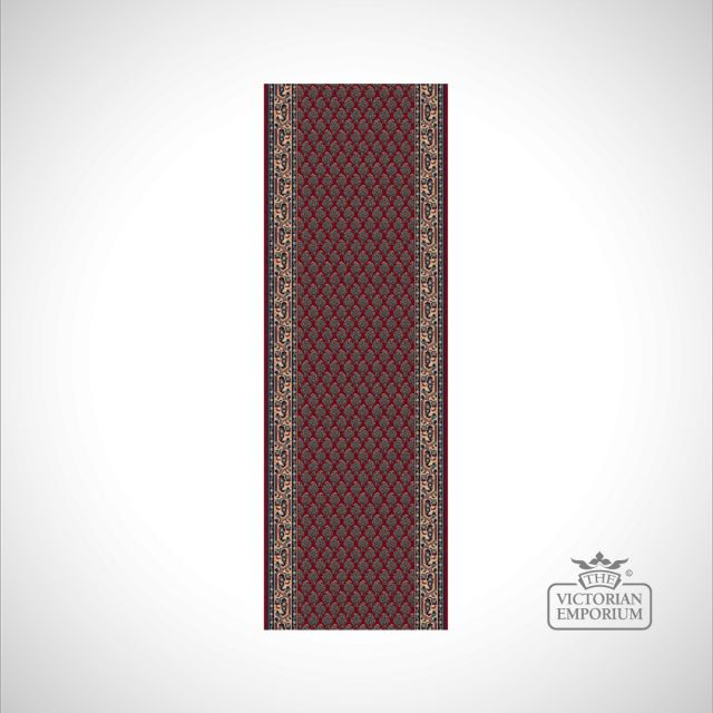 Victorian Stair Carpet Runner - style KO1181 in choice of Red, Beige/Brown and Beige/Red