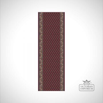 Victorian Stair Runner Carpet - style KO1181 in choice of Red, Beige/Brown and Beige/Red