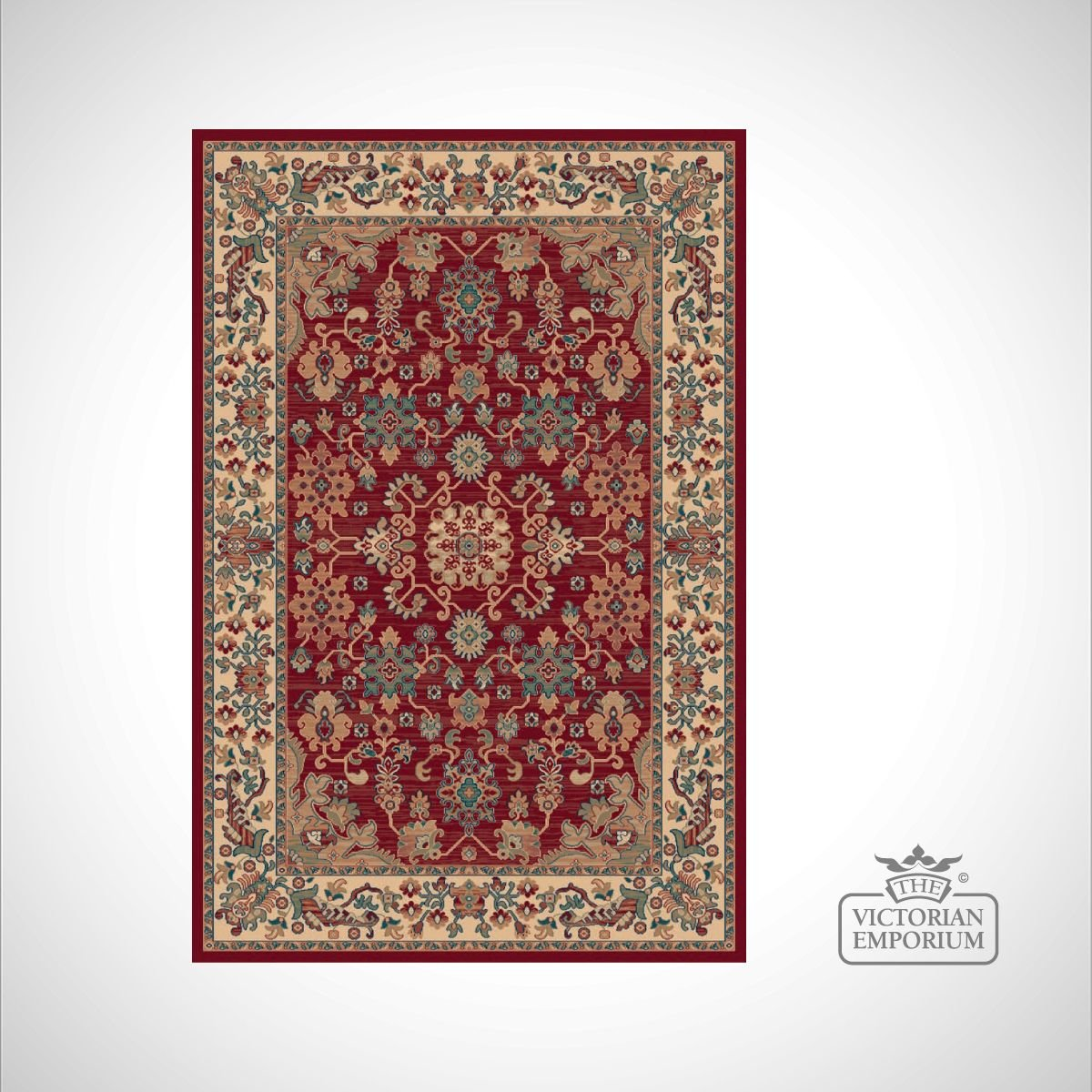 Victorian Rug Style Ro1630 Red Rugs The Victorian