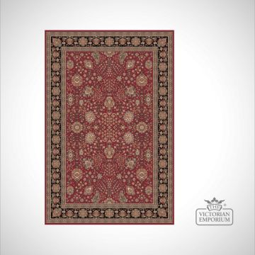 Victorian Rug - style FA5687 Red/Black