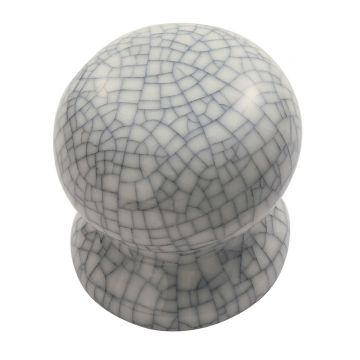One piece porcelain cupboard knob - 30mm