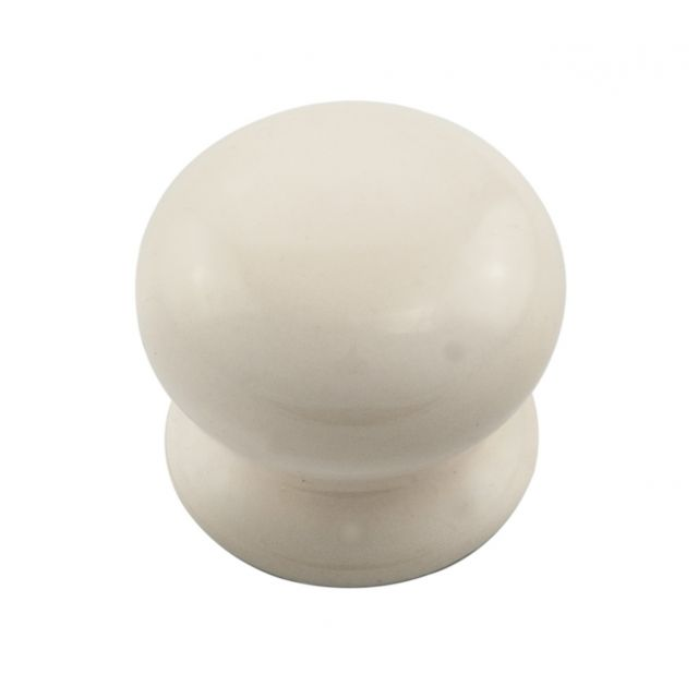 One piece porcelain cupboard knob in a choice of sizes
