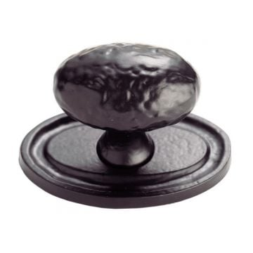 Hammered oval knob on oval backplate (40mm knob)
