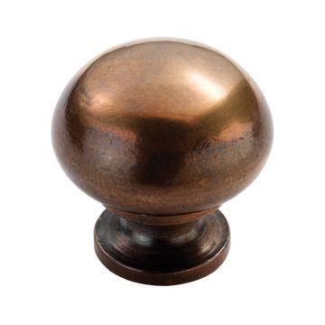 Mushroom pattern solid bronze cupboard knob