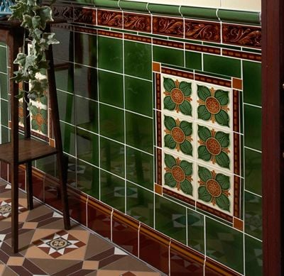 Decorative wall tiles the victorian emporium for Edwardian tiles for porch
